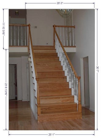 Charmant Refinished Stairs And Hand Rails With Balusters